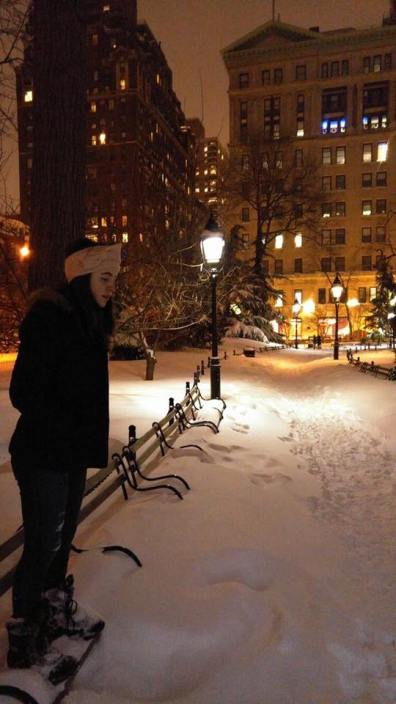 January 2016, Washington Square Park